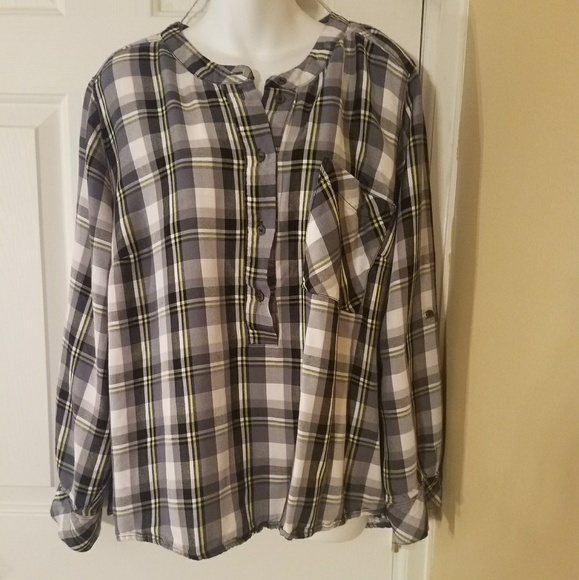 e22b016e80c Lane Bryant Size 22 Button Down Plaid shirt
